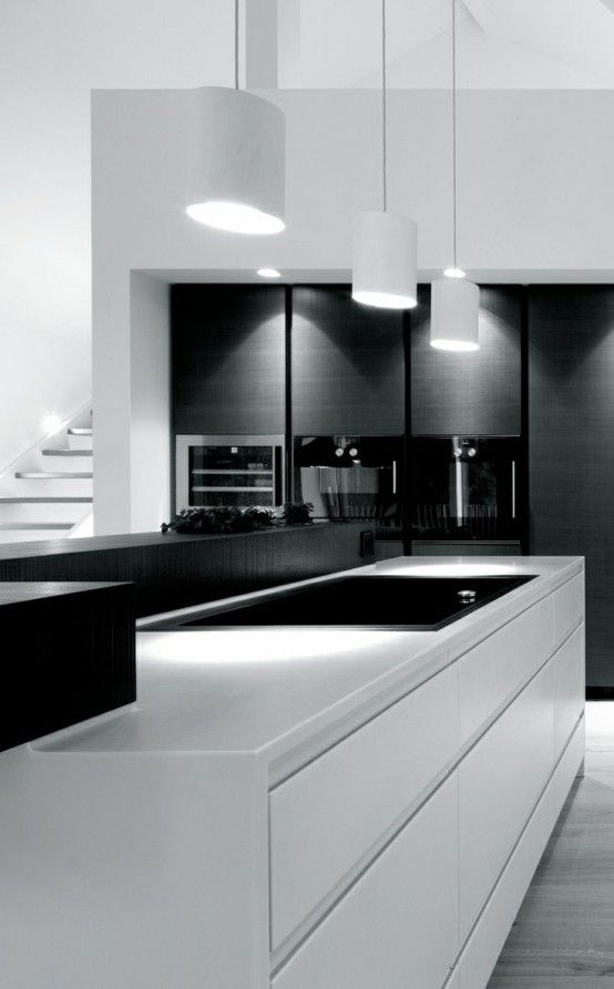 37 Functional Minimalist Kitchen Design Ideas  Fox Kitchen Mesmerizing Black And White Kitchens Designs Decorating Inspiration