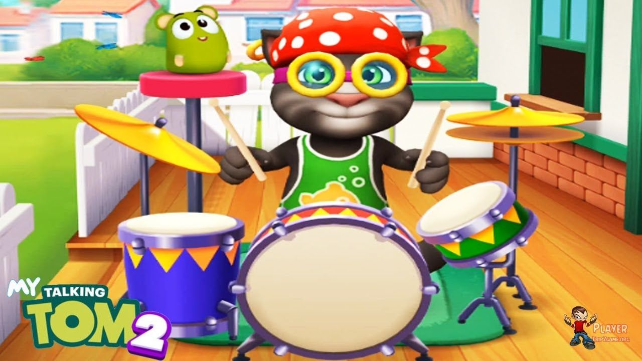 My Talking Tom 2 Try The New Toy Drums Gameplay Walkthrough In
