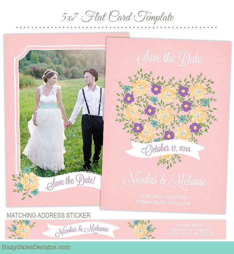 Save the Date Card Template for Photographers #save the date - engagement card template