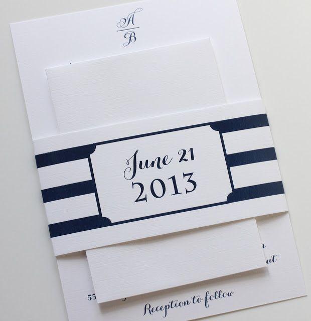 Nautical Navy Wedding Invitations
