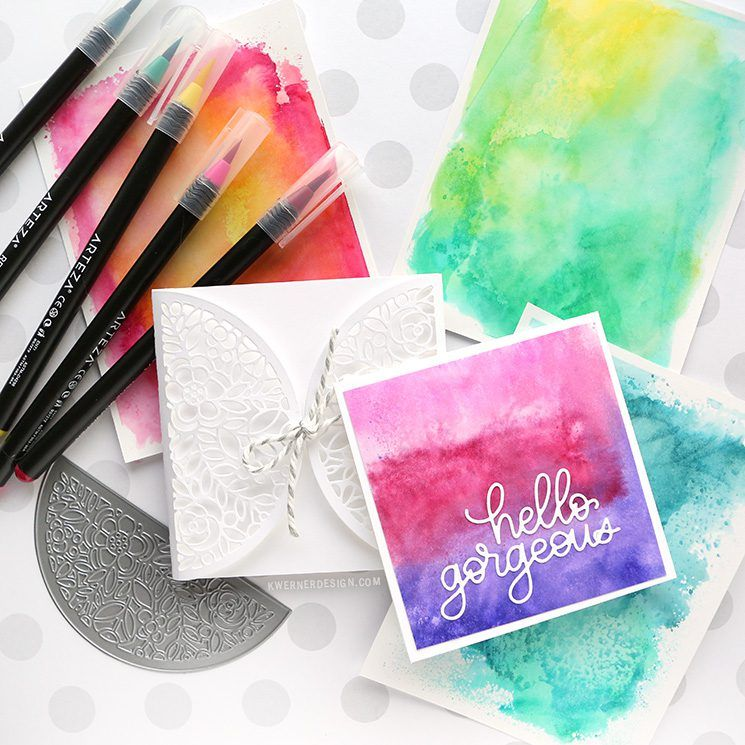 Easy Watercolor Backgrounds With Watercolor Markers Easy
