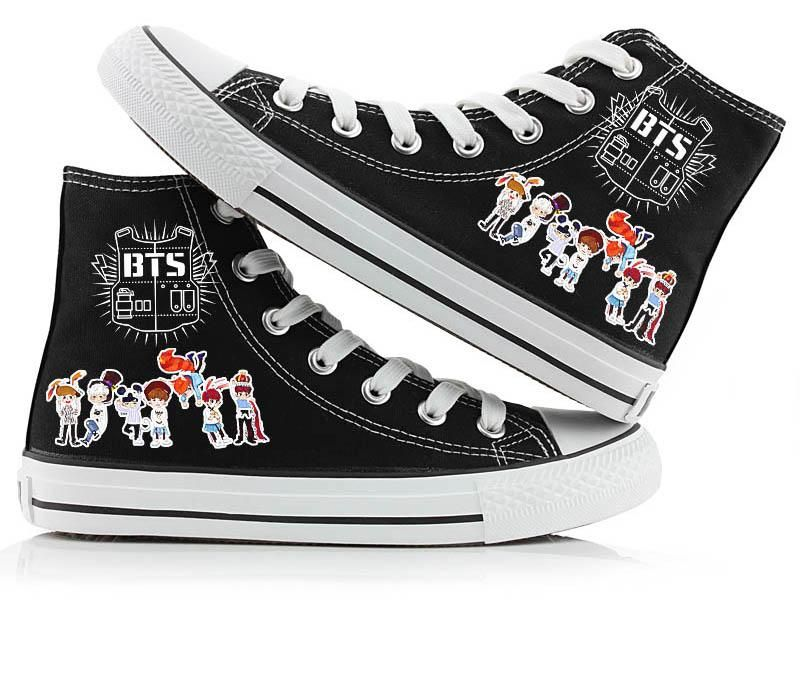 The Walking Dead Canvas Shoes Casual High-Top Shoes Leisure Shoes cosplay