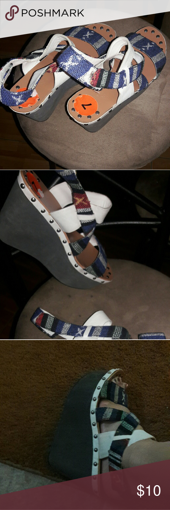 Scrappy sandals New. Never worn. They are too high for me. joes Shoes Sandals