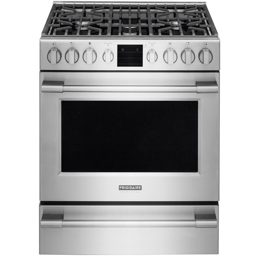 Frigidaire Professional 5 Burner Freestanding 5.1 Cu Ft Self Cleaning  Convection Gas Range (Smudge Proof Stainless Steel) (Common: 30 In; Actual:  30 In) ...