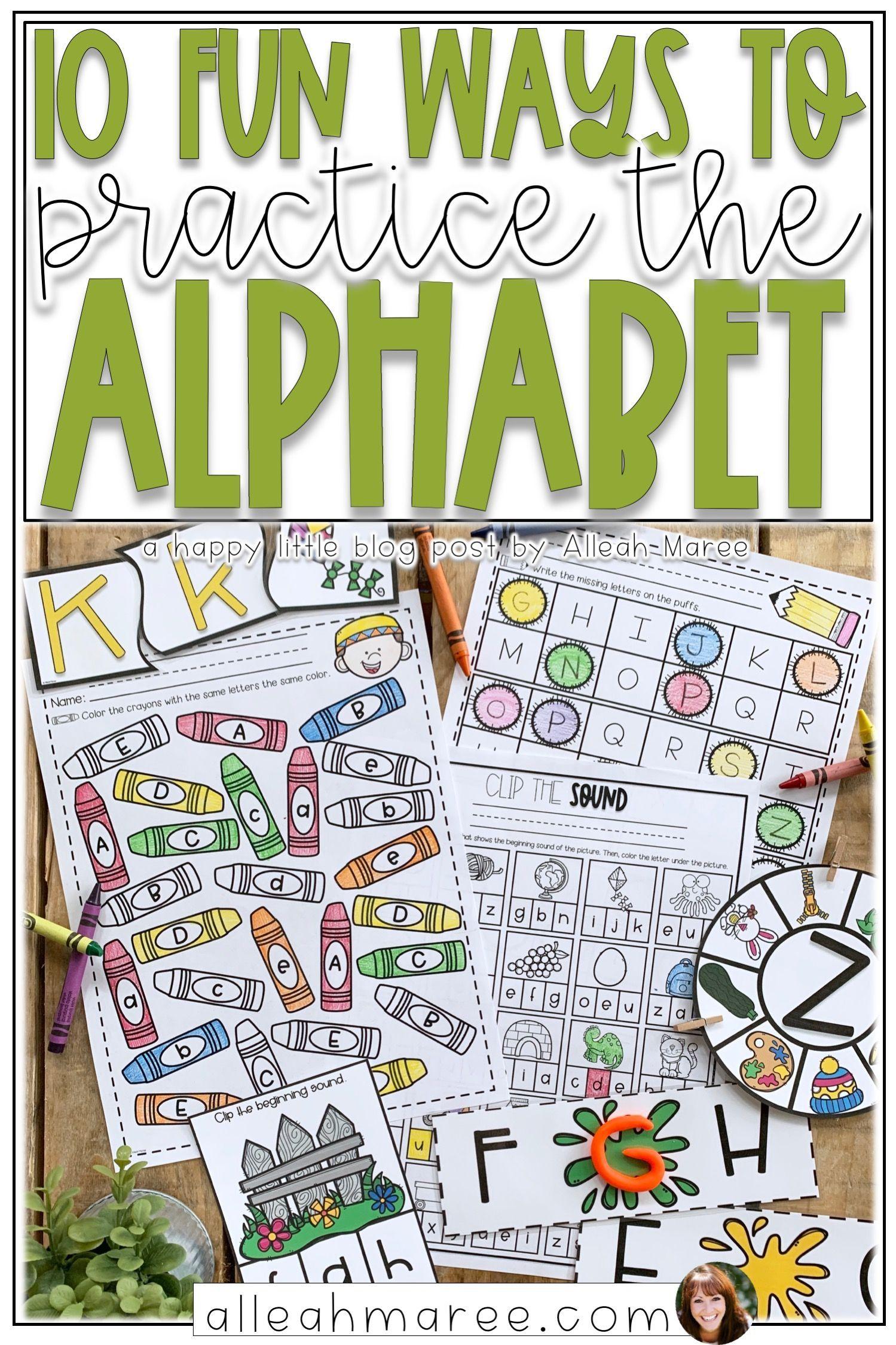 10 Fun Ways To Practice The Alphabet