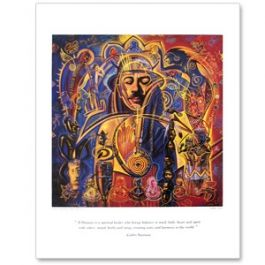 Santana Shaman Lithograph - Artwork & Posters