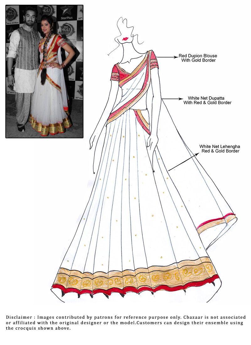 e39f03a7a082 DIY White Veera Lehenga Choli   Indian Outfits in 2019   Lehenga ...