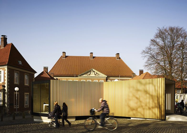 Golden Workshop by modulorbeat and Münster School of Architecture students - Dezeen