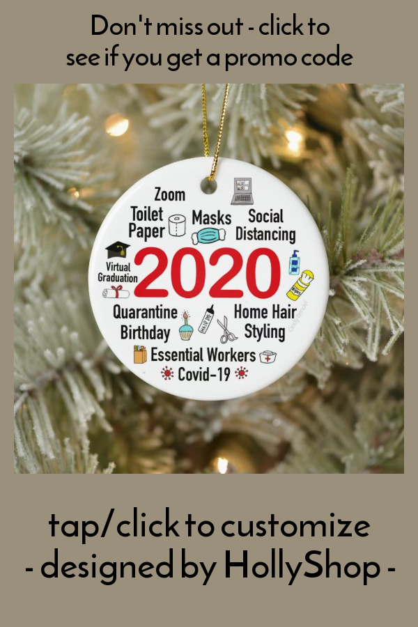 2020 Christmas Quarantine Memories Covid Ceramic Ornament - tap/click to personalize and buy #CeramicOrnament #2020 #ornament #covid #pandemic #christmas