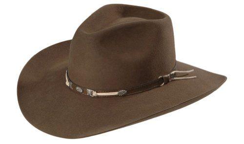 a508b1ca1 Justin Men's Sheplers 4X Fur Felt Cowboy Western Hat Pecan 7 * To ...