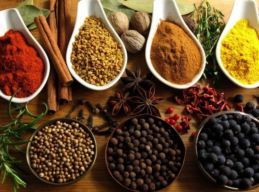 Mixed Spice spiceDIY English Mixed Spice spice Candy comes in handy with these 13 fancy plating hacks      LECKER Food Spices in bowls on a white table by Ina Peters for...