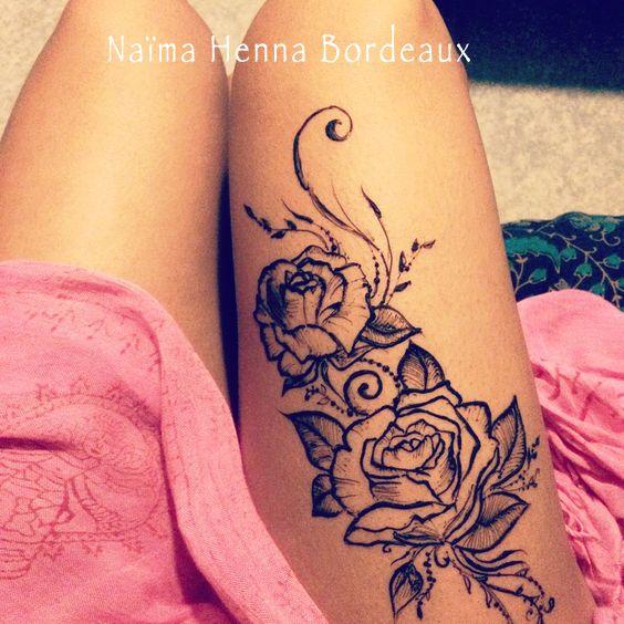 tatouage henné naturel bordeaux merignac cub - henné rose tattoo