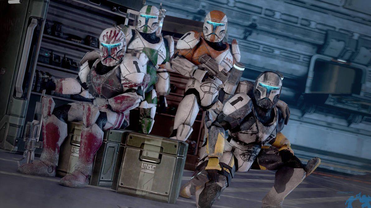 Delta Squad Hd Update Sfm 4k By Archangel470 Star Wars Commando Star Wars Awesome Republic Commando