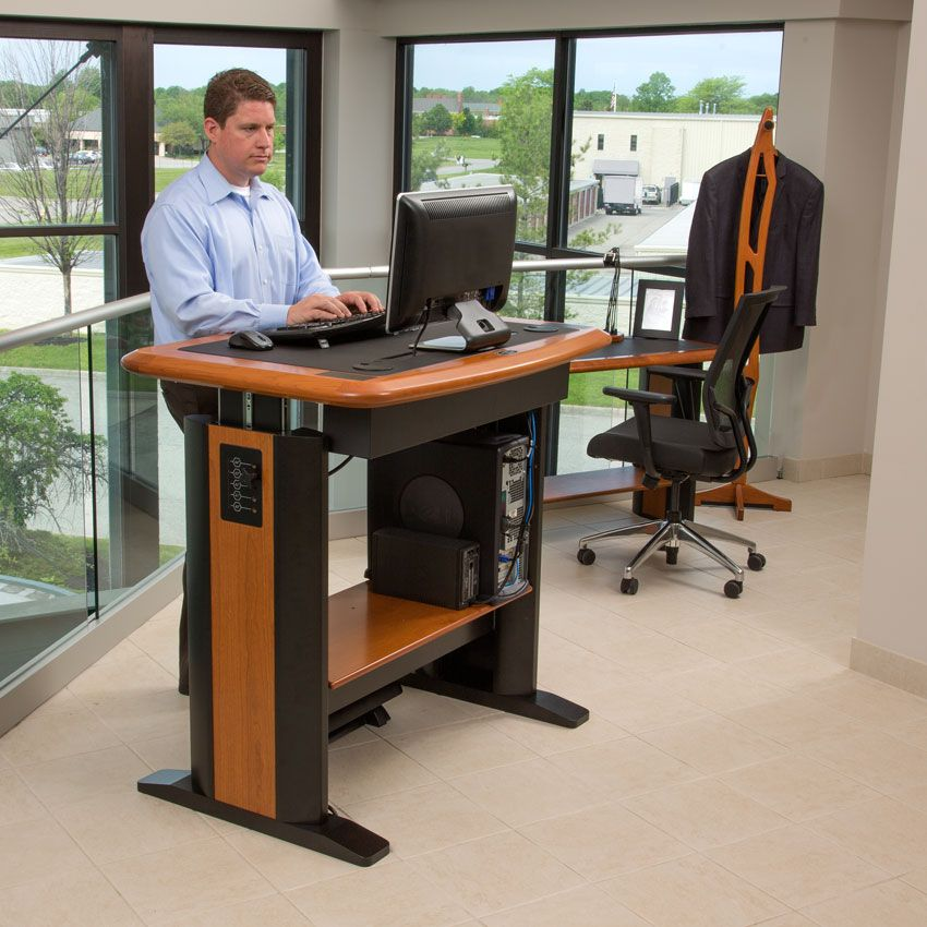 Standing desk workstation costco stand up desk type 32 for Chairs for standing desks