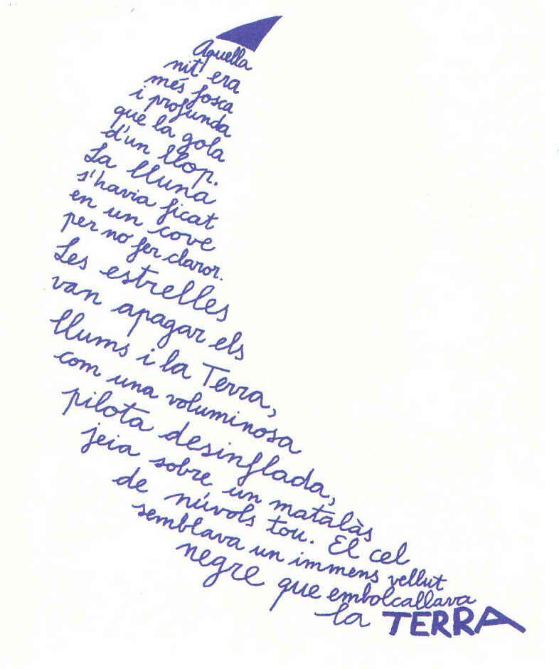 La Lluna Caligrama De Miquel Obiols Caligramas Ejemplos