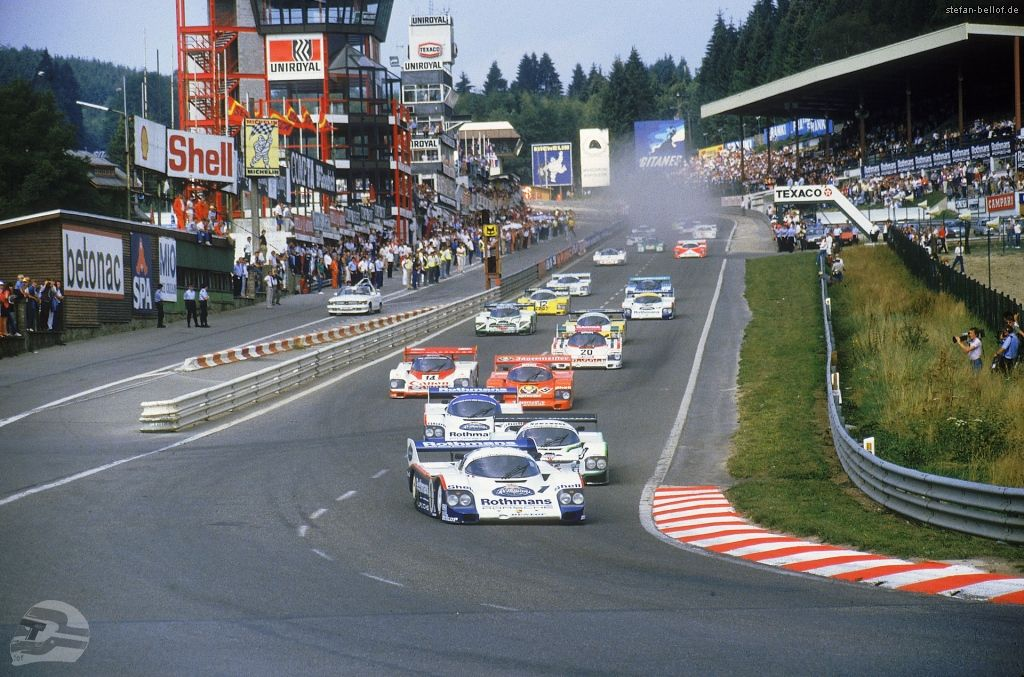 Rennen 1000 km Spa 1984 Start © Porsche AG