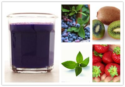 Good morning!  Day3 Juicing 2 cups blueberries 2 kiwifruit, peeled 16 strawberries 2 cups mint leaves #cleanse #juice