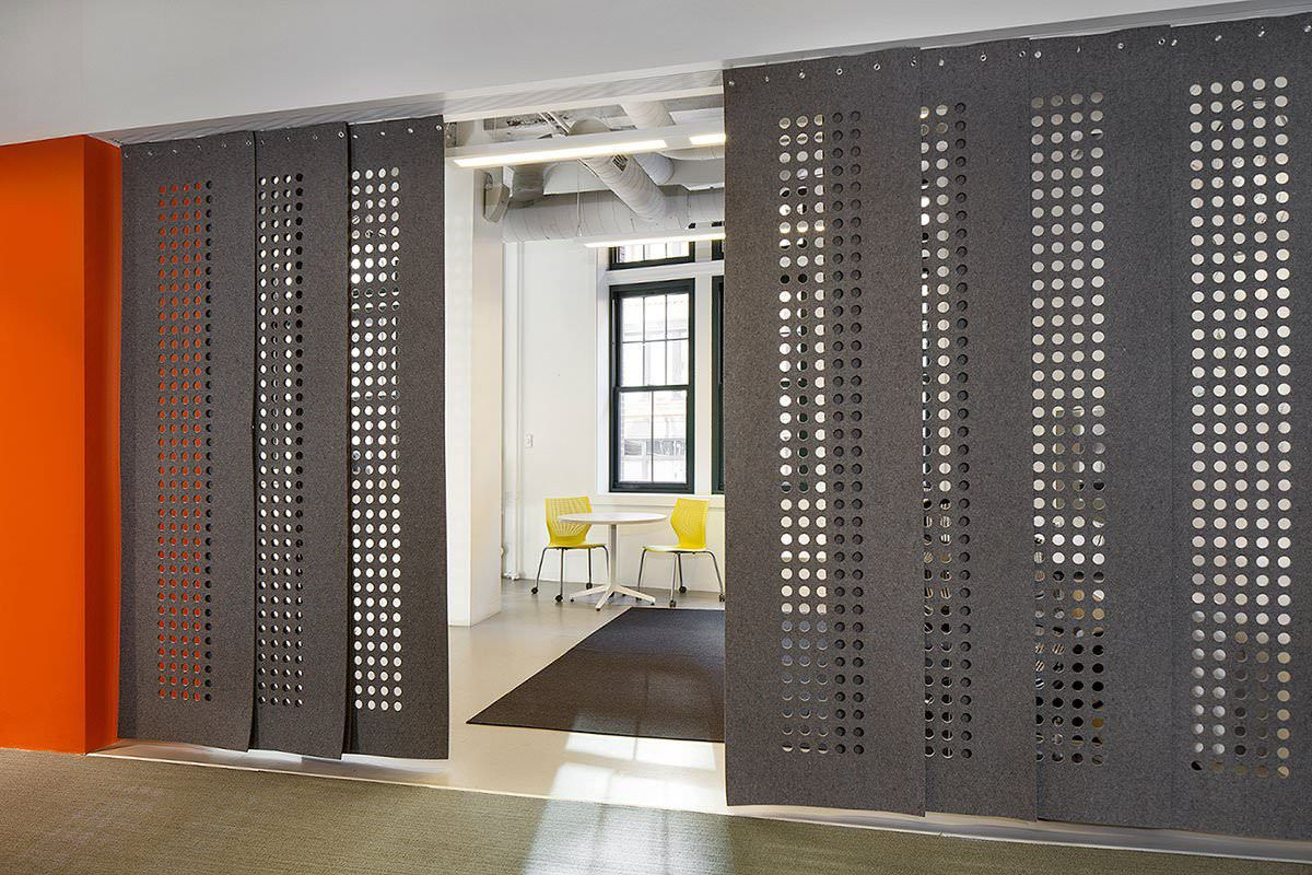 Custom Hanging Felt Panels Armature Style Closure Acoustic Wall
