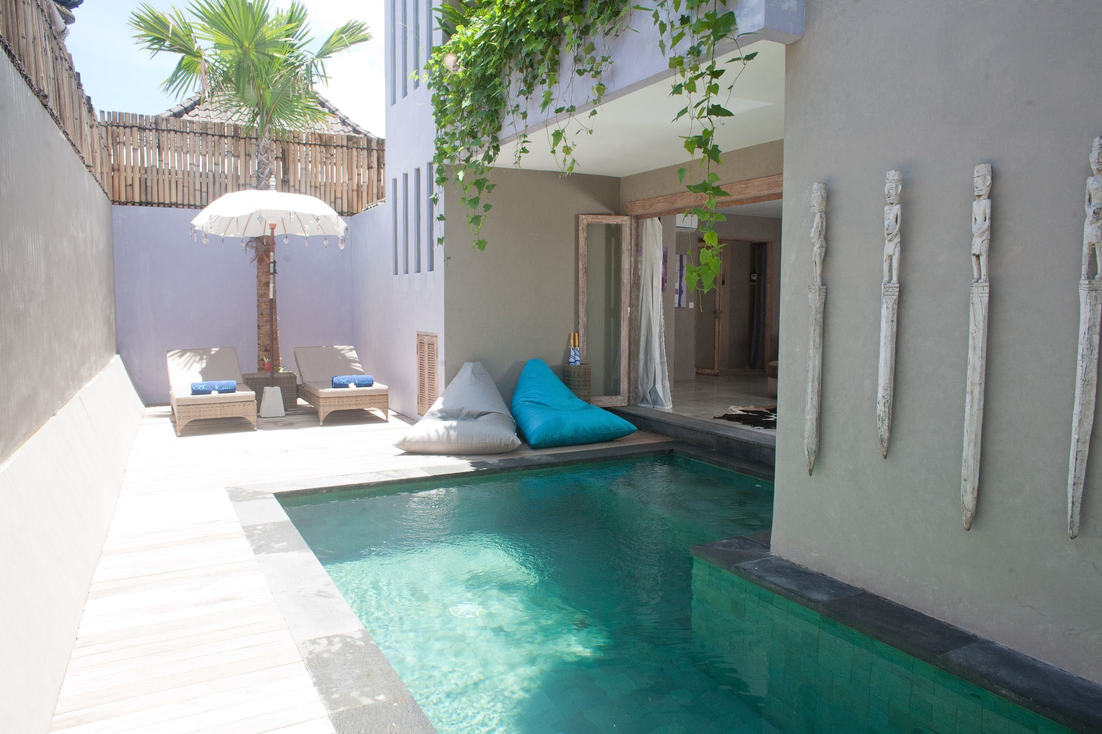 2 bedrooms villa in seminyak bali hotel private pool Bedroom swimming pool design