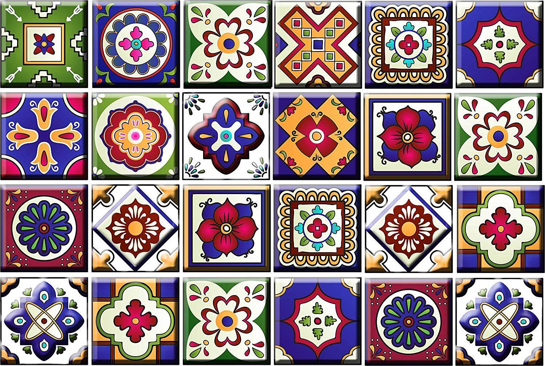amazon backsplash tile stickers 24 pc set traditional