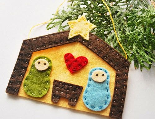 Christmas Craft Ideas On Modern Country Style: Make Your Own Felt Nativity Scene
