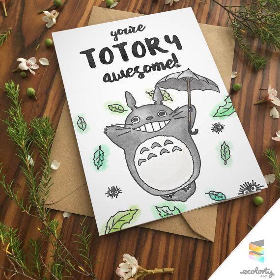 Totoro pun greeting card love birthday studio ghibli boyfriend totoro pun greeting card love birthday studio ghibli boyfriend girlfriend print anniversary friend miyazaki kawaii cute my neighbour totoro bookmarktalkfo Choice Image