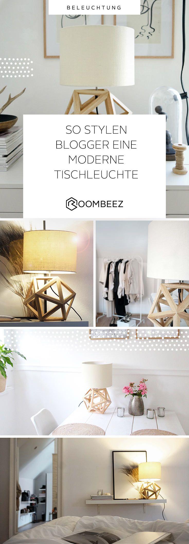 Esszimmer ideen mit grauen wänden deko  so stylen blogger eine moderne tischleuchte  pinterest