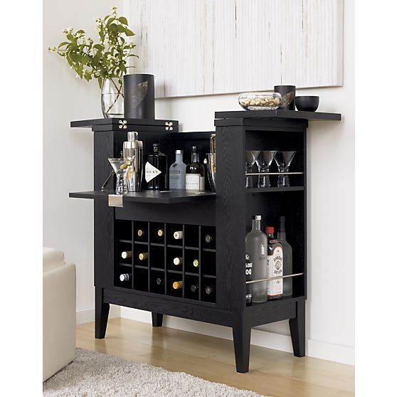 Parker Spirits Ebony Cabinet | Crates, Barrels and Bar