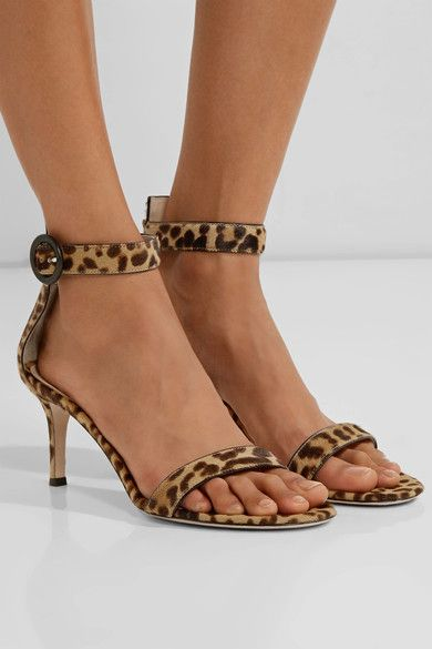 5d09febc10d GIANVITO ROSSI ravishing Portofino leopard-print calf hair sandals ...