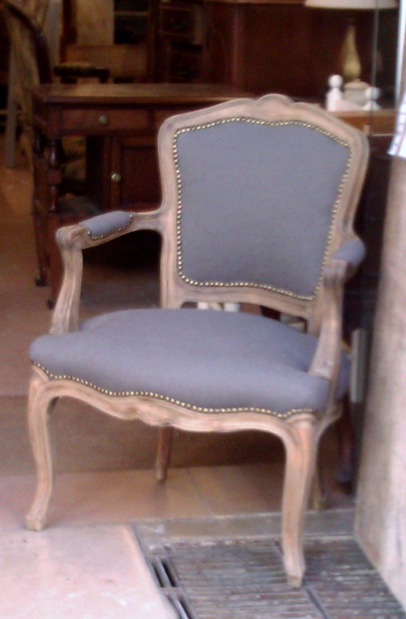 Sill n de pata curva decapado blanco envejecido recreando - Sillon estilo provenzal ...