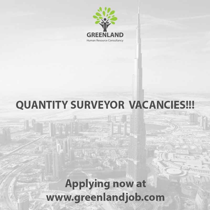 #Quantity #Surveyor for #Construction Company -Job Location #Dubai- -Must be male only- -Must be currently in UAE- -Must have at least 6 to 10 years of experience in Building, Steel Structure- -Must have Civil #Engineering Degree- -Age must be below 45- Please Click Here To Upload Your CV: greenlandjob.com/...