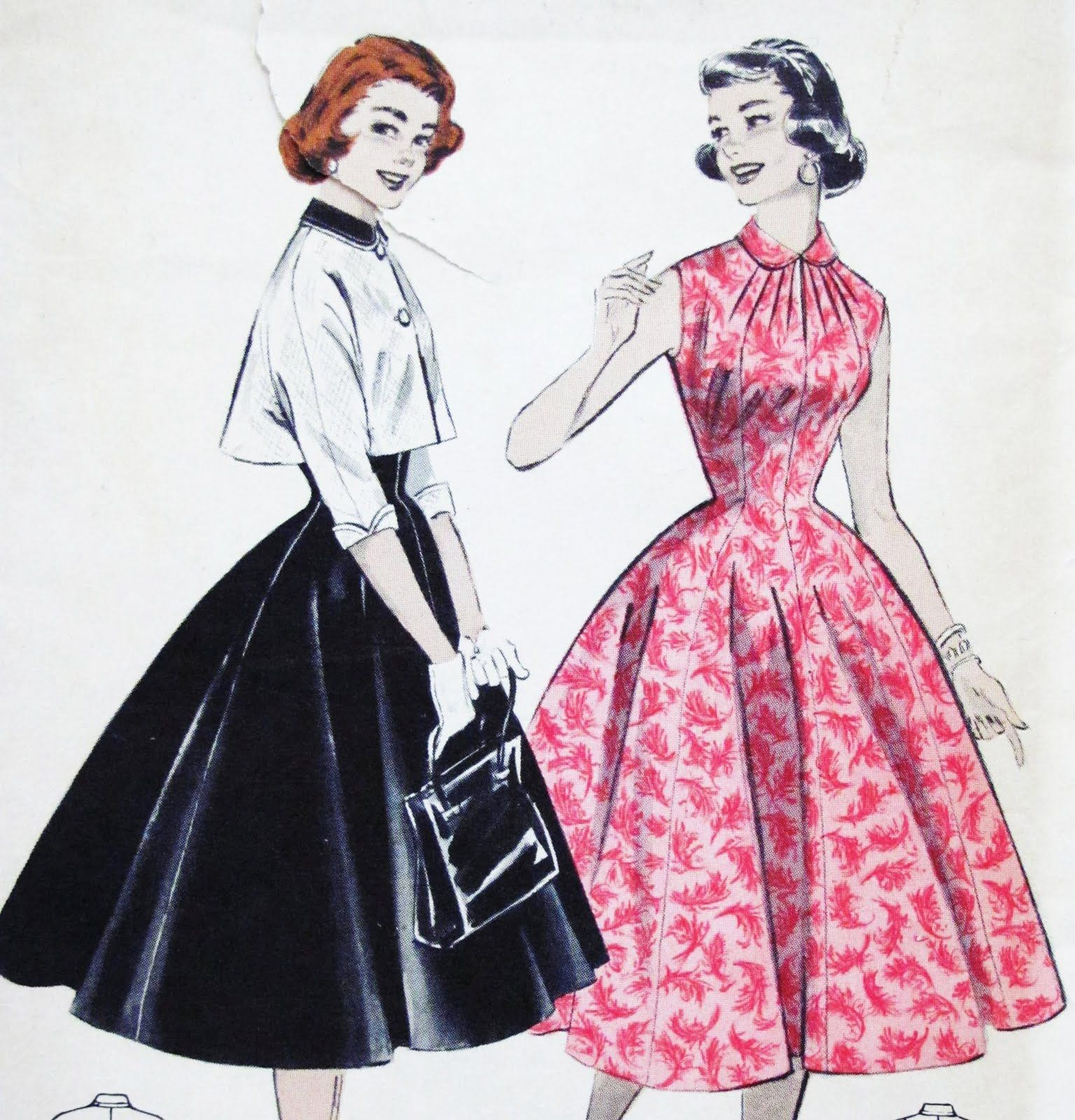 1950 S Vintage Fashion Little Cover Ups Fashion Illustration Vintage New Look Dresses Fashion