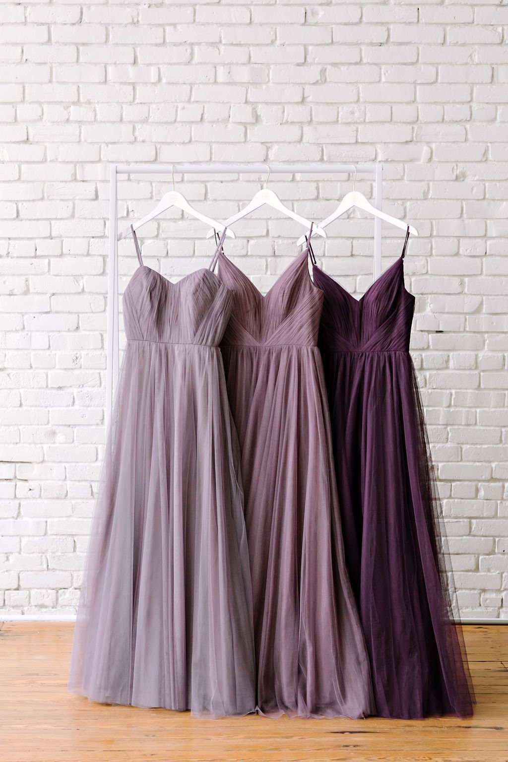 Left To Right In Tulle Wisteria Dusty Purple Velvet Plum If The Full Purple E Dusty Purple Bridesmaid Dresses Grey Purple Wedding Purple Bridesmaid Dresses [ 1536 x 1024 Pixel ]