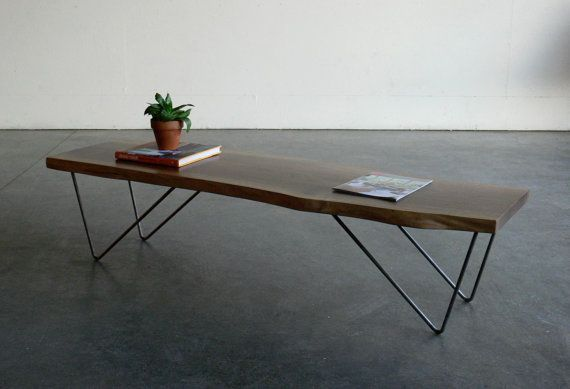 Superior Life Edge Table And Bench   Google Search · Coffee Table BenchWalnut Coffee  TableModern BenchMid Century ...
