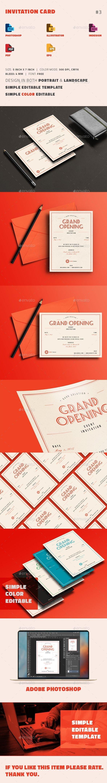 Invitation Card | Print templates, Template and Card templates