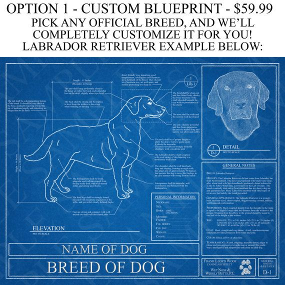 Pick your breed personalized dog blueprint dog lover gift pick your breed personalized dog blueprint dog art dog wall art dog poster dog print malvernweather Gallery