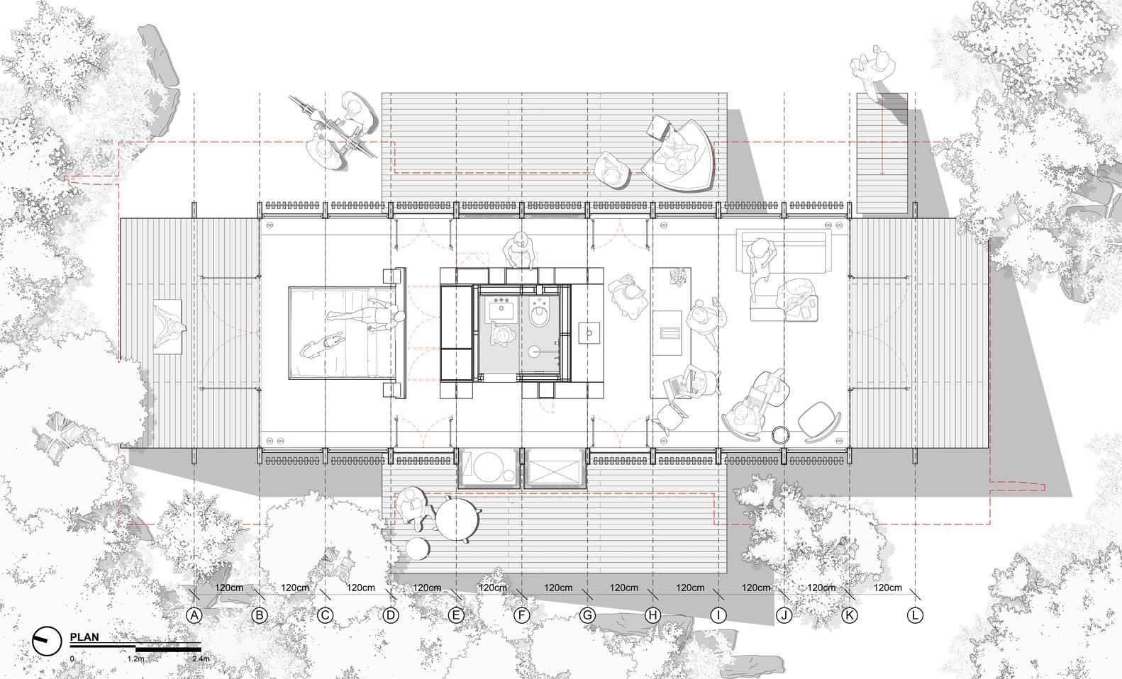 Gallery Of Mu50 House Teke Architects Office 19 In 2020 Architects Office Architect Office Design Architecture Site Plan