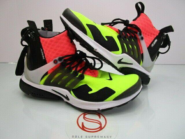 promo code 7aeda a5377 Nike Air Presto Mid ACRONYM VOLT XS 8-9