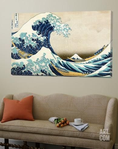 La grande vague de Kanagawa Toile Murale Géante