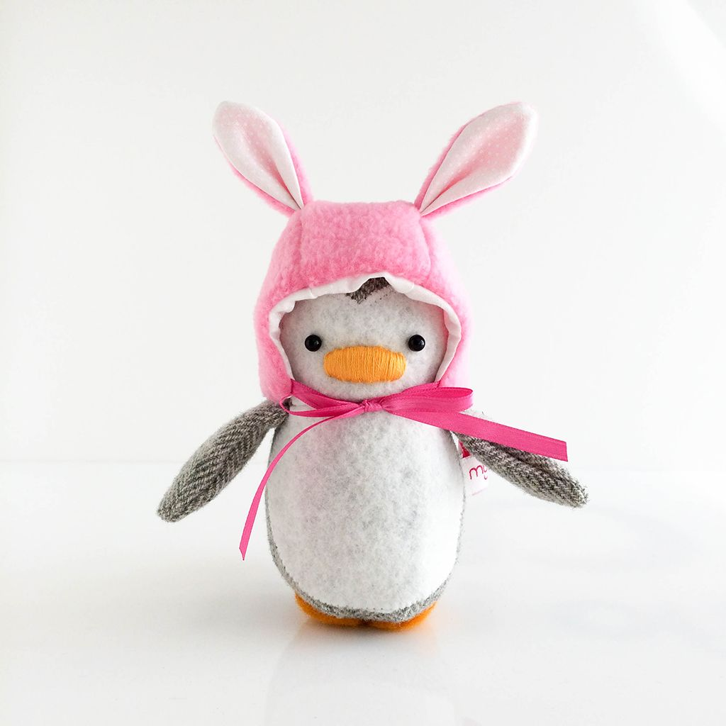 Mini Penguin with Bunny Hat Tail | penguins!!! | Pinterest