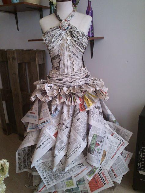 Trajes de fantasia reciclados manualidades