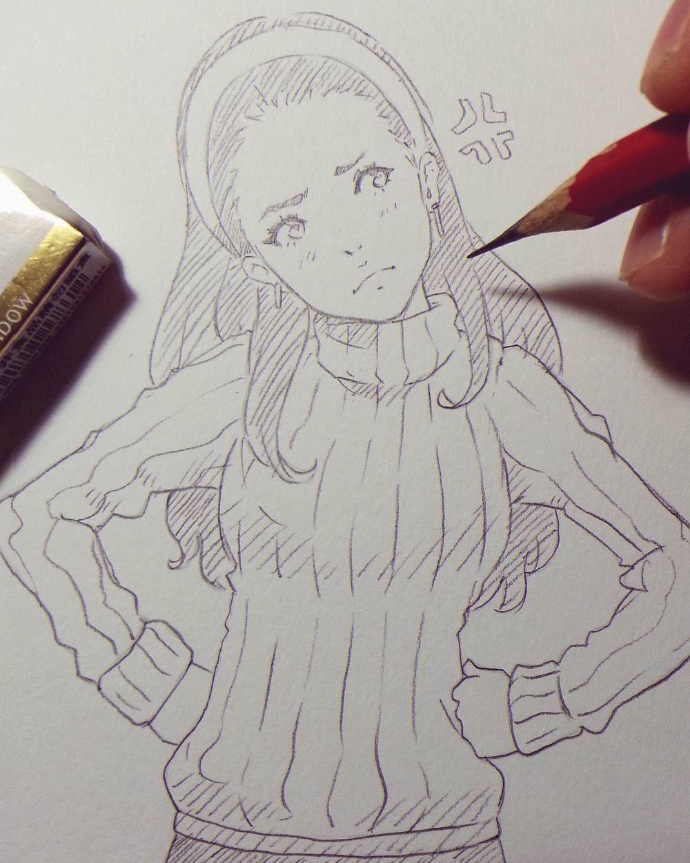 Regram magion02 weekend traditional quickie raine loire ラクガキ pencil sketch