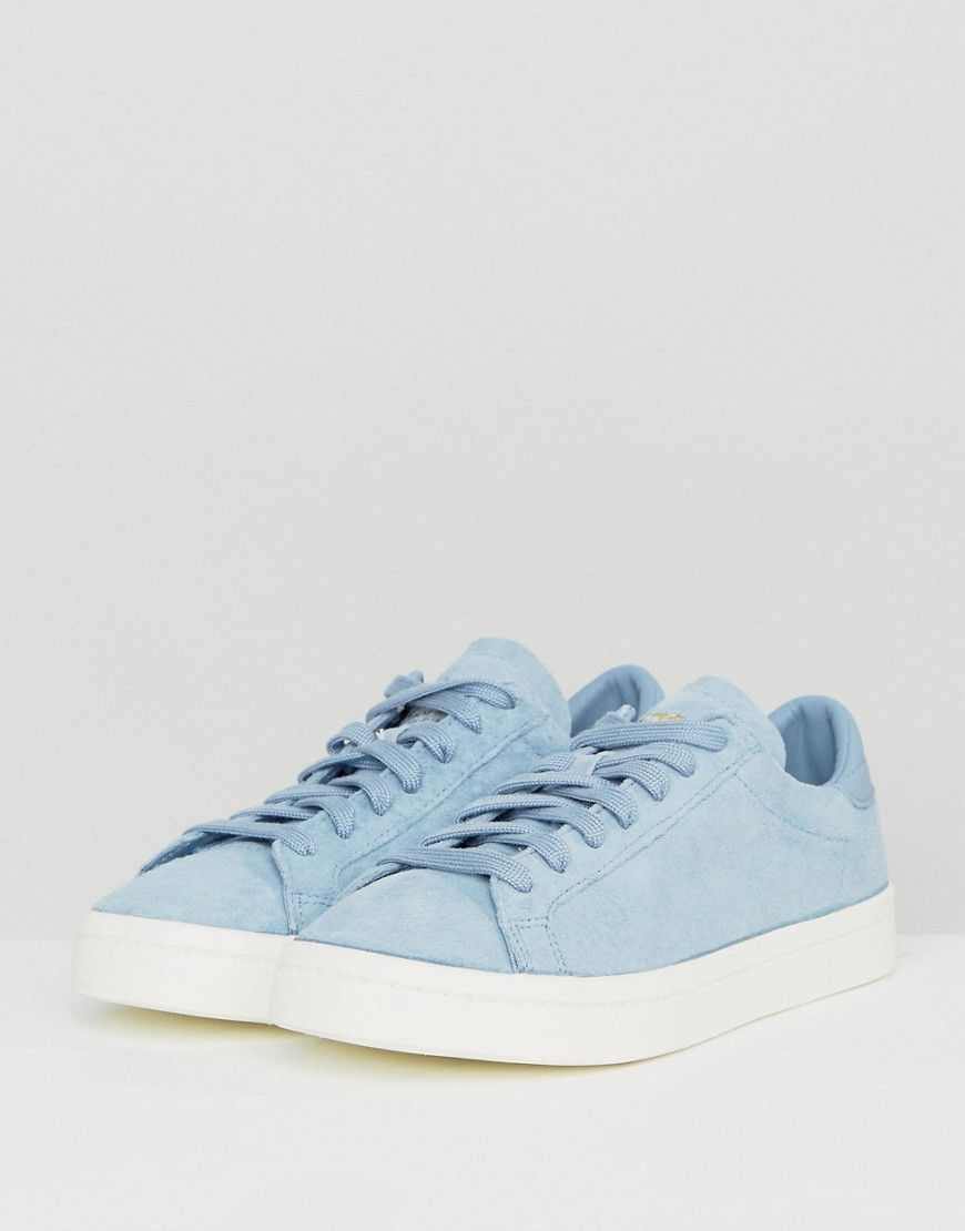 Adidas Originals Court Vantage Sneakers In Pale Blue Blue Blue Sneakers Latest Fashion Clothes Online Shopping Clothes