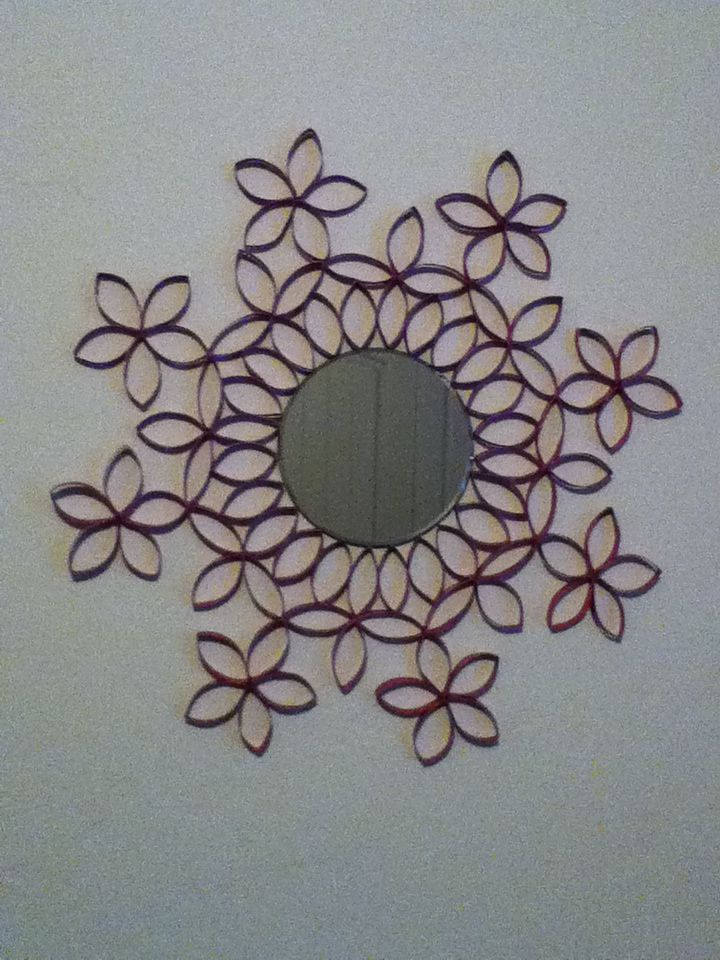 Toilet paper roll mirror nora manualidades Pinterest Papel