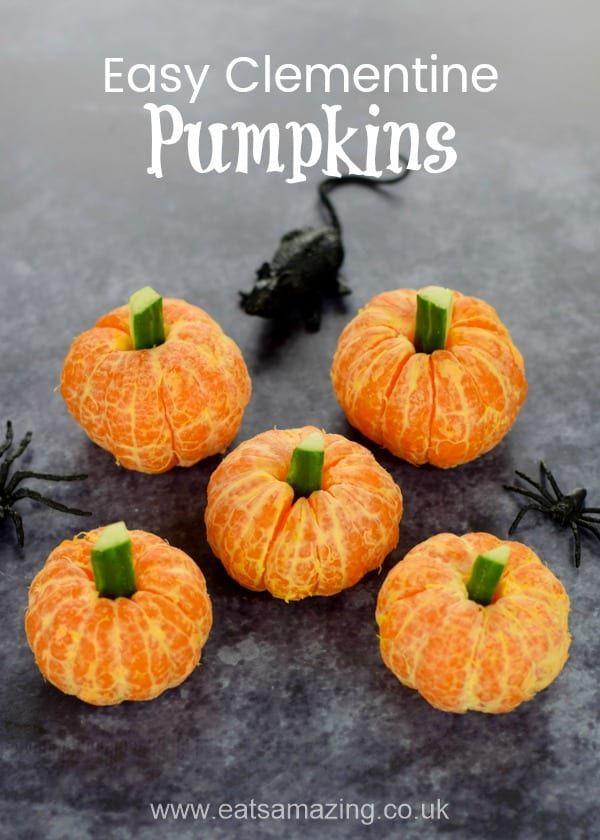Easy Clementine Pumpkins - Healthy Halloween Food for Kids