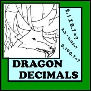 Decimals Unit Review: Computation Skills (Dragon Coloring Activity ...