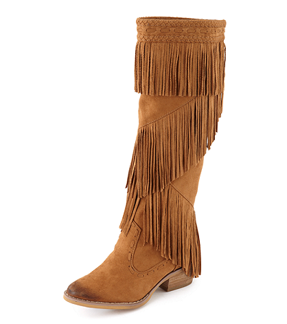 """Not Rated """"Witty Giddy"""" Casual Fringe Boots 