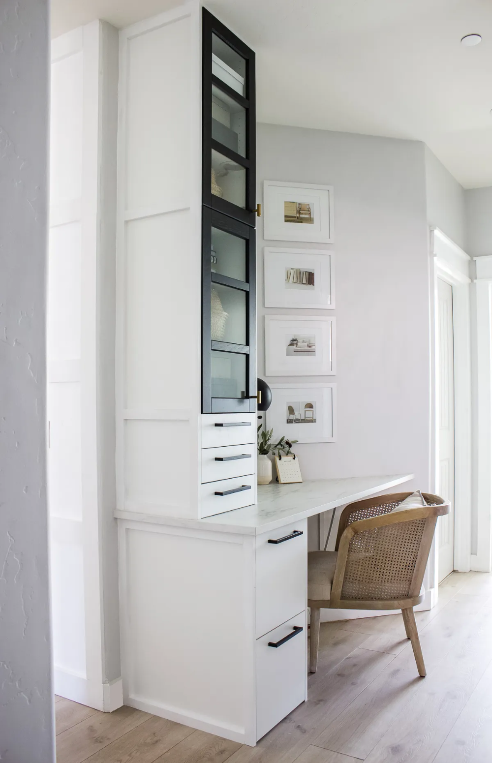 Small Home Office with Built In Ikea Designed
