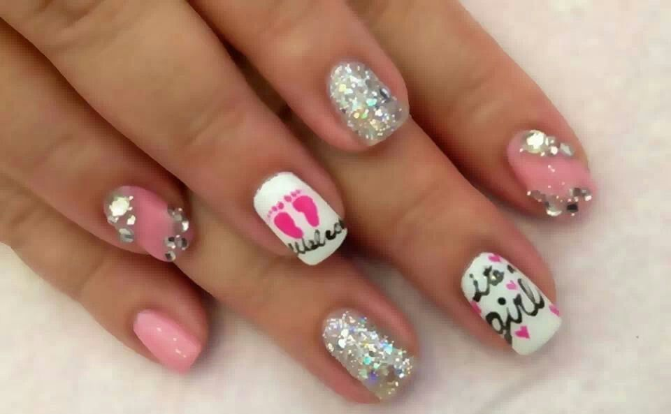 Cute For An Expecting Mother With Images Baby Shower Nails