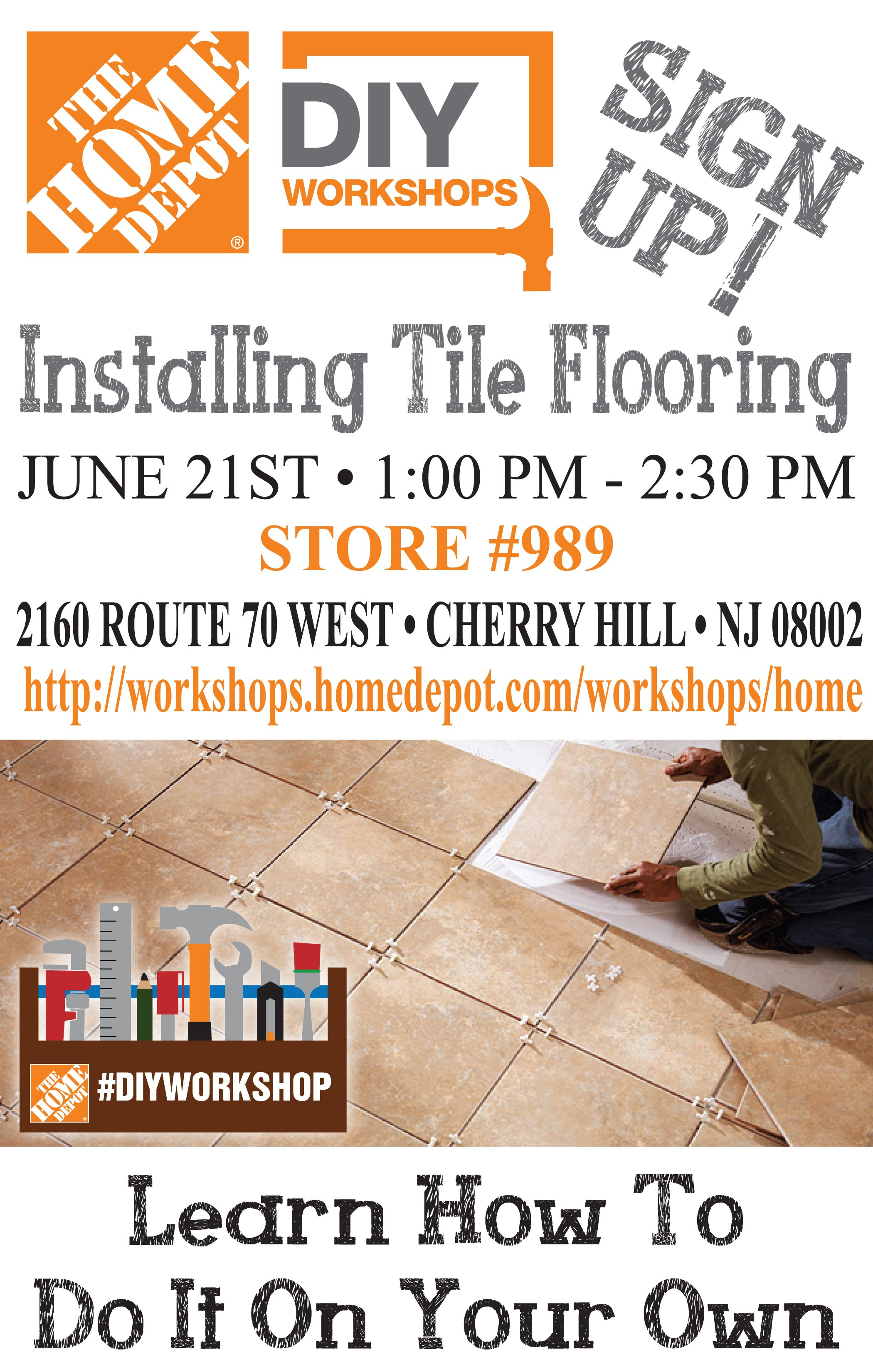 Putting down Tile Flooring Let s Do This Learn How at the Home